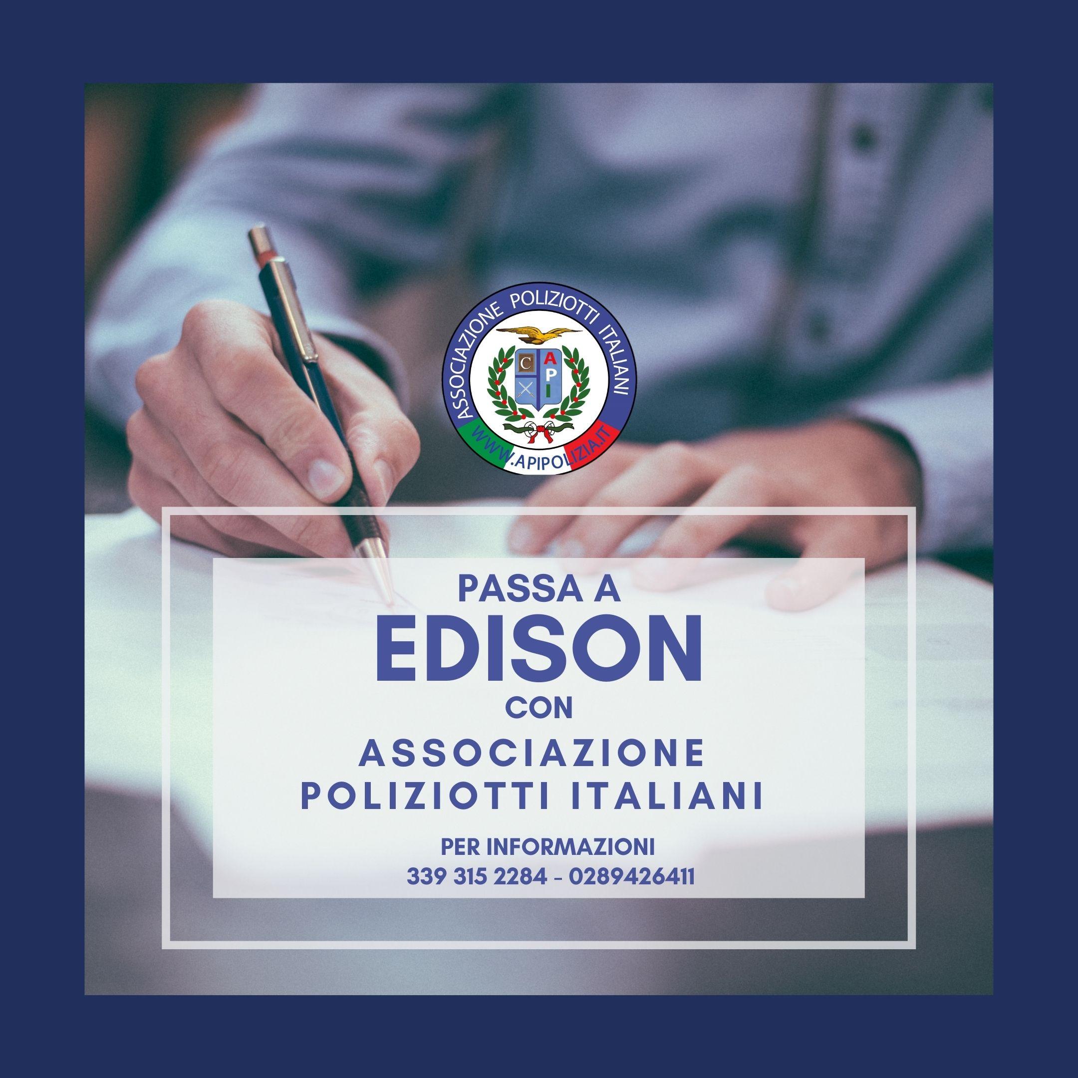 edison luce e gas con l'associazione poliziotti italiani