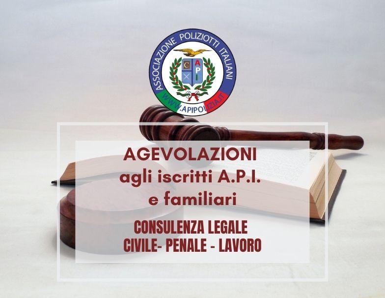 consulenze legali api convenzione associazione poliziotti italiani