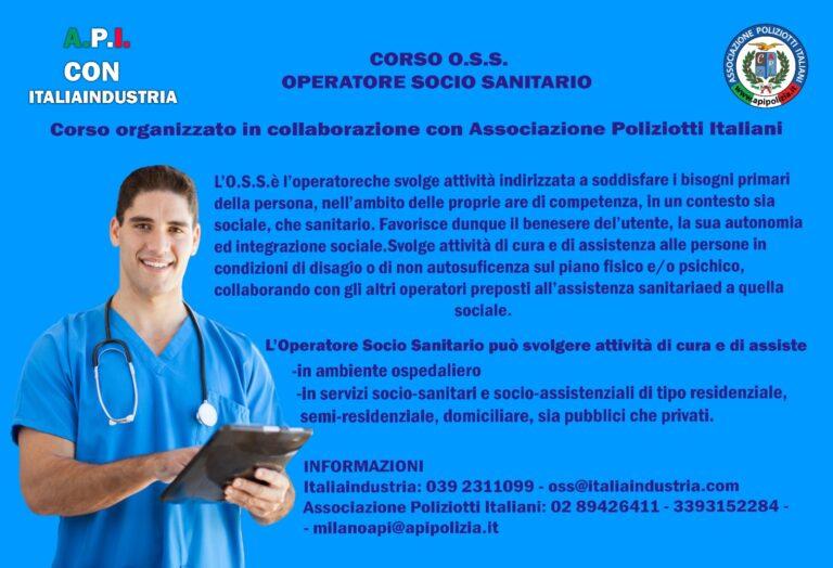 CORSO O.S.S.- OPERATORE SOCIO SANITARIO