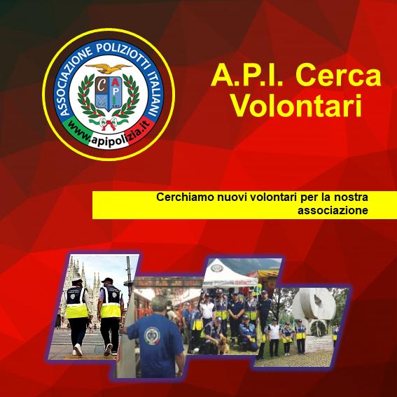 A.P.I. cerca nuovi volontari